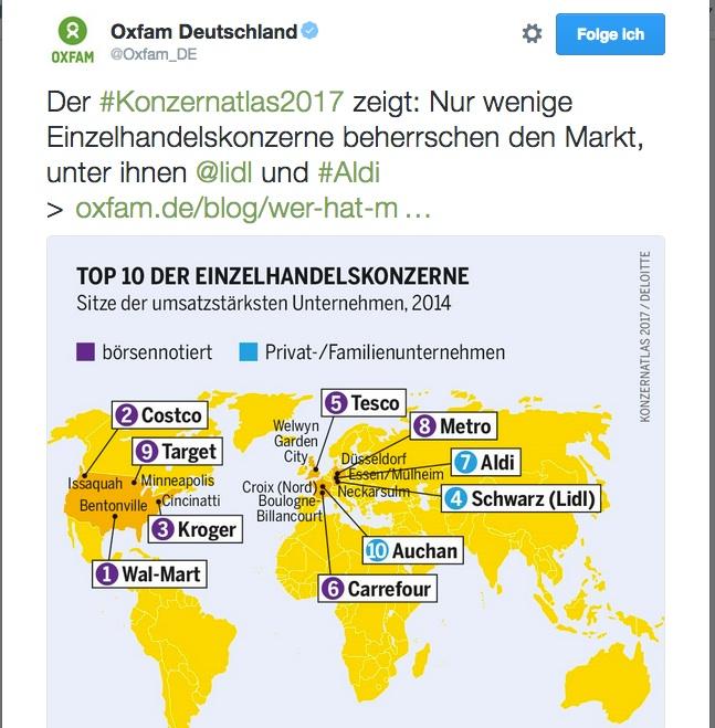 Konzernatlas 2017 (Quelle: Oxfam Deutschland)