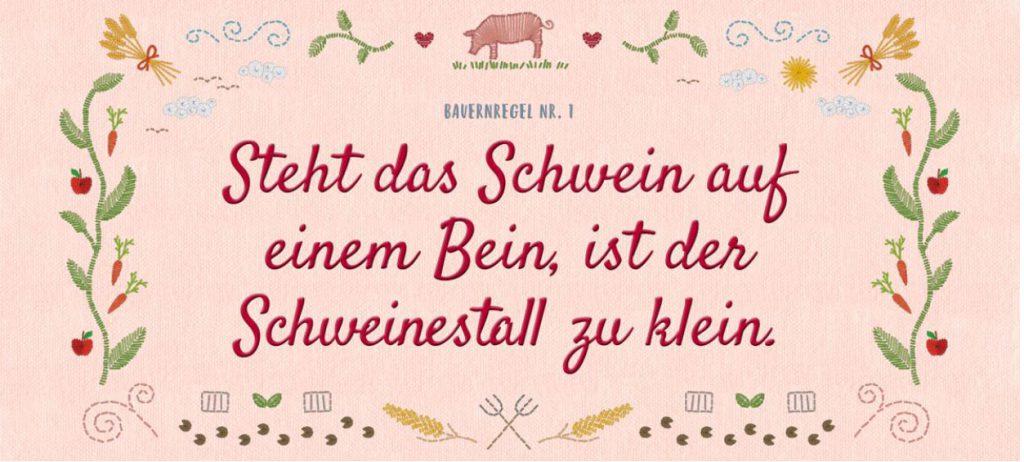 Neue Bauernregeln Schwein (Copyright: BMUB)