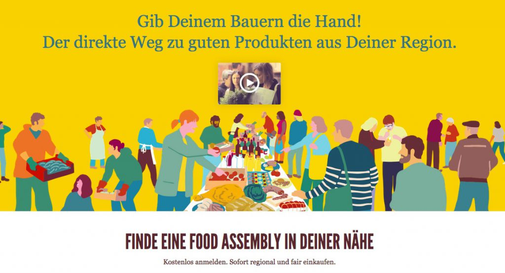 Screenshot Food Assembly (Copyright: wilderwegesrand.de)