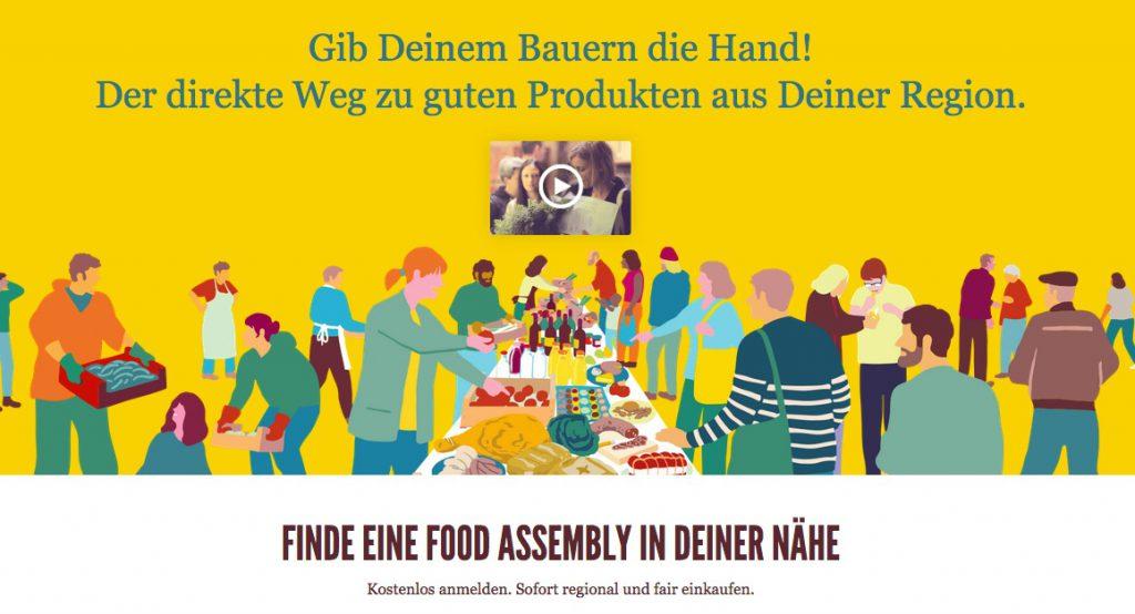 Screenshot Food Assembly (Copyright: wilderwegesrand.de)