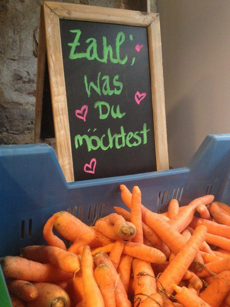 Krumme Möhren bei The Good Food (Copyright: wilderwegesrand.de)