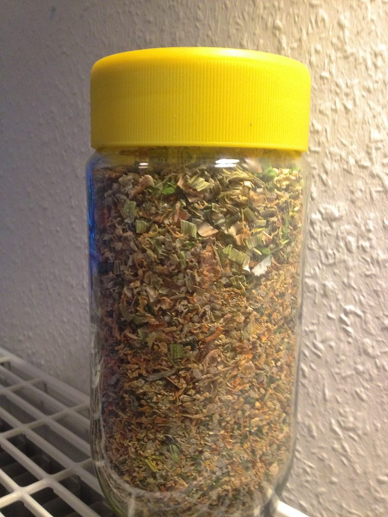 Pulver für Gemüsebrühe (Copyright: wilderwegesrand.de)