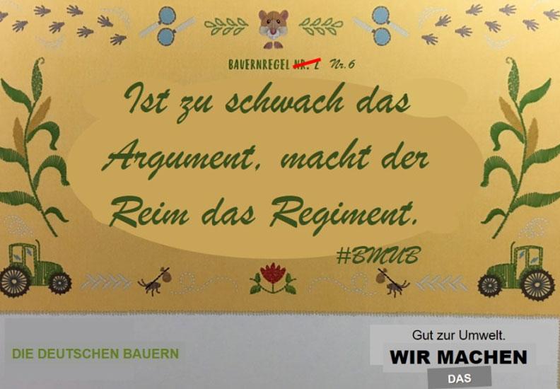 Bauernverband zum Reimen (Copyright: DBV)