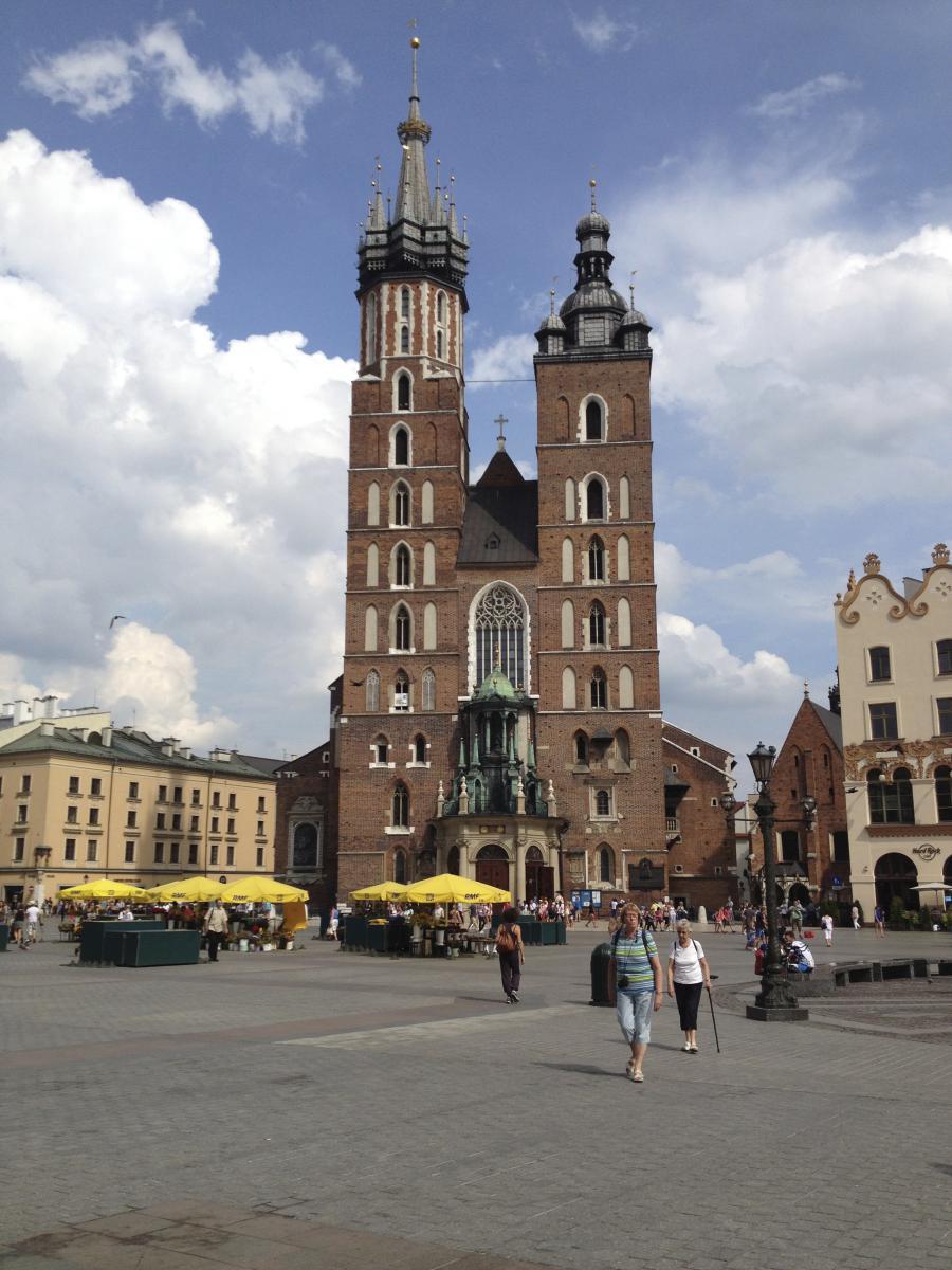 Die Marienkirche auf dem Rynek Głowny