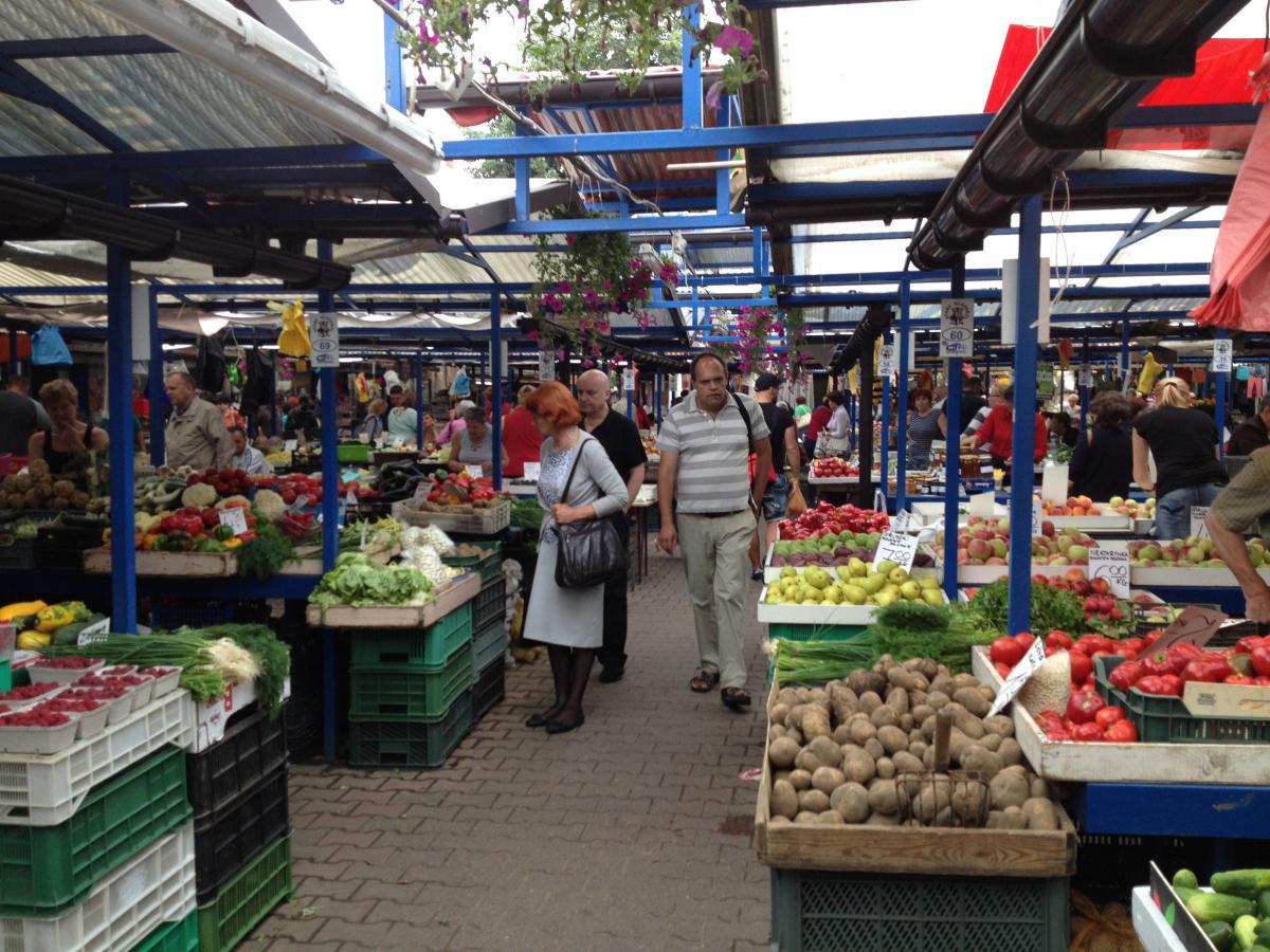 Auf dem Rynek Kleparski